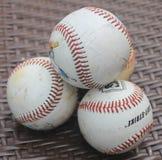 Uma pilha dos basebol Fotografia de Stock