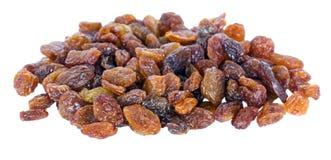 Uma pilha dos raisins de sultana isolados Imagens de Stock Royalty Free