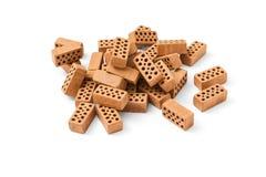 Uma pilha dos tijolos Fotografia de Stock