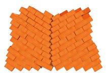 Uma pilha dos tijolos Foto de Stock