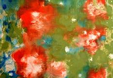 Uma pintura abstrata colorida do monótipo imagem de stock