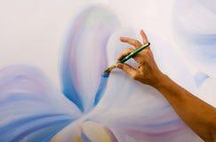Uma pintura de orquídeas do phalaenopsis Imagem de Stock