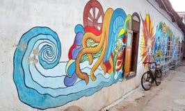 Uma pintura de parede Fotografia de Stock Royalty Free