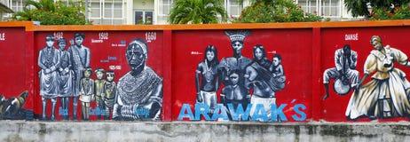 Uma pintura mural em Le Marín, Martinica fotos de stock royalty free