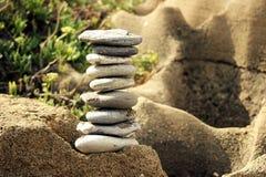Uma pirâmide das pedras Foto de Stock Royalty Free