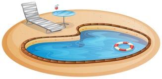 Uma piscina Fotografia de Stock Royalty Free