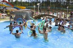 Ginástica aeróbica de água Fotos de Stock