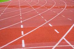 Uma pista running no centro de esporte Fotografia de Stock Royalty Free