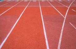 Uma pista running no centro de esporte Imagens de Stock Royalty Free