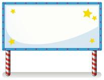 Uma placa branca com luzes da série Foto de Stock