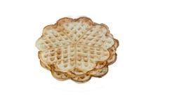 Uma placa com waffles imagens de stock