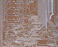 Uma placa de circuito impresso Fotos de Stock Royalty Free