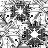 Uma placa de circuito impresso do vetor da cor Fotos de Stock