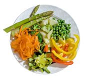 Uma placa de legumes frescos Foto de Stock Royalty Free