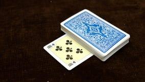 uma plataforma de cartões de jogo Cartões do póquer Foto de Stock