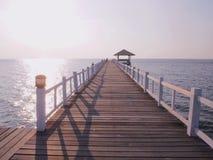 Uma ponte ao mar Fotografia de Stock