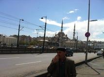 uma ponte através do passo em Istambul Imagens de Stock Royalty Free