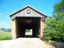 Uma ponte coberta em Ohio Imagem de Stock