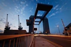 Uma ponte em Canary Wharf, Lonodn Fotografia de Stock