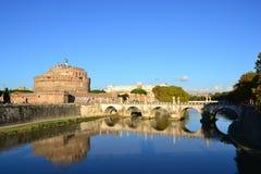Uma ponte em Roma, Itália Foto de Stock Royalty Free