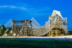 Uma ponte em um campo de jogos das crianças na Tailândia Fotografia de Stock Royalty Free