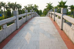 Uma ponte no parque Fotos de Stock