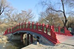 Uma ponte no parque de Yuanmingyuan Fotos de Stock