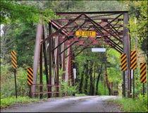 Uma ponte velha do aço da pista Imagem de Stock