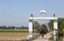 Uma porta da vila, Punjab Imagens de Stock Royalty Free