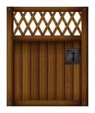 Uma porta de madeira da porta Foto de Stock