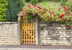 Uma porta, entrada a uma jarda dianteira Fotos de Stock
