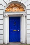 Uma porta Georgian de madeira velha de Dublin Imagem de Stock