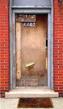 Uma porta impar foto de stock