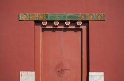 Uma porta na Cidade Proibida Foto de Stock