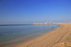 Uma praia foto de stock royalty free