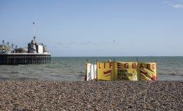 Uma praia, Brigghton, Inglaterra Foto de Stock