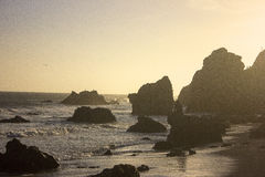 Uma praia de Califórnia Fotografia de Stock