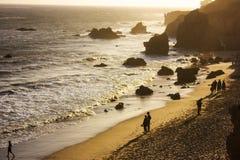 Uma praia de Califórnia Fotografia de Stock Royalty Free