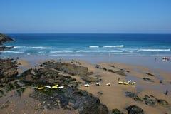Uma praia em Newquay Imagens de Stock
