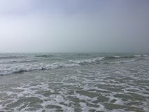 Uma praia em Tampa, Florida Imagens de Stock
