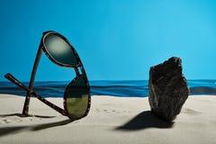 Uma praia estranha do verão Fotografia de Stock