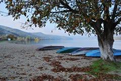 Uma praia no Danúbio Fotografia de Stock