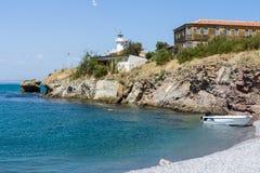 Uma praia pequena da ilha de St Anastasia imagens de stock