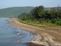 Uma praia remota em India Fotografia de Stock