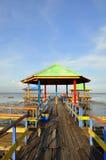Uma praia tropical fotografia de stock
