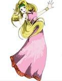 Uma princesa grega Anime Manga Style Fotos de Stock Royalty Free