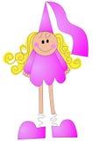 Uma princesa ilustrada simples ilustração royalty free