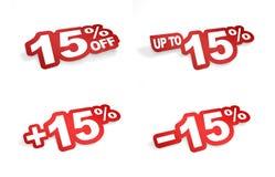 uma promoção de 15 por cento Fotografia de Stock
