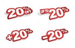 uma promoção de 20 por cento Imagens de Stock