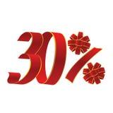 uma promoção de 30 por cento ilustração do vetor